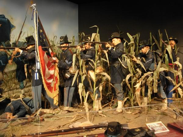 Color Uniform Database Wisconsins-iron-brigade-at-antietam-cornfield