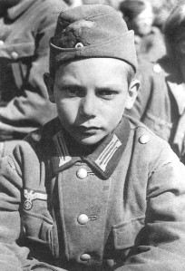 "German kids like this one were supposed to be ""werewolves"" and carry out acts of sabotage against allied forces. It never amounted to much."
