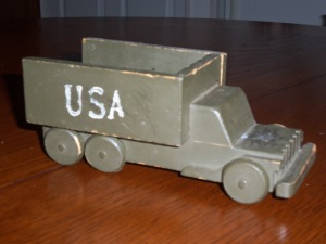 Open topped truck. Grandpa had USA stamped on all his vehicles.
