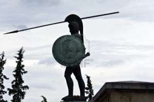 Statue of the Spartan King Leonidas at Thermopylae