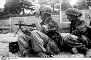 1st Fallschirmjager Division held Monte Cassino suffering terrible losses in the process.