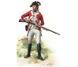 British Royal Marine, 1775 by Don Troiani