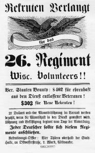 "The 26th ""all German"" Wisconsin Volunteers."