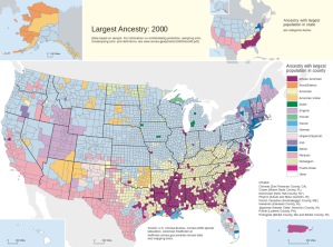 Interesting census map showing pluralities of ancestry in 2000. The light blue are German pluralities meaning people who claim some German ethnicity.