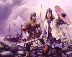 The Vikings were active in England from about 793 to 1066 AD. At one time most of northern Britain was called the Danelaw because Danish Vikings ruled there.