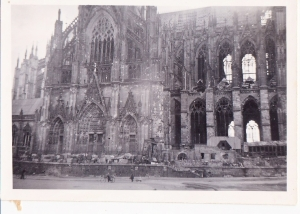 On the  back of this picture it reads: Cologne cathedral as of now.