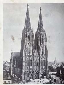 Cathedral prewar. Dad must have purchased a prewar photo book of the cathedral that he sent home with his own pictures.