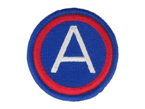 3rd Army patch. I may have one from my dad's uniform. The 3rd Army was Patton's Army during the war. While in the 707th MP BN dad was in the 3rd Army.