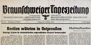 German newspaper account of the massacre. A google search for Nemmorsdorf will turn up many pictures of the massacre. Warning, many are gruesome.