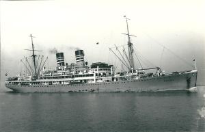 The Ubena, built 1928, as a 9,500 ton passenger liner.