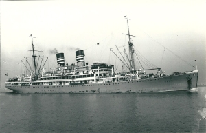 The Ubena, built 1928, as a 9,500 ton passenger liner.