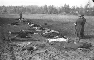 One of the milder images of the massacre at Nemmorsdorf.
