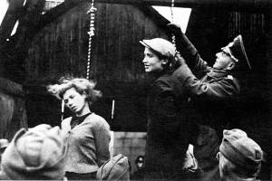 "German atrocities in Russia contributed to the ""pay back"" mentality of the Red Army. For the most part the UK and US viewed the German victims of Soviet atrocities as ""they had it coming."""