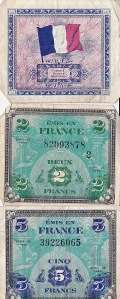 French francs dated 1944