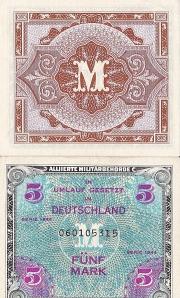 5 German marks, 1944