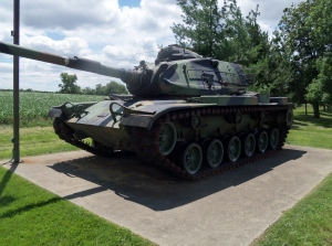 Another view of the M60A3. If memory serves me the gun is 105mm high-velocity NATO gun shared by Britain, W. Germany and other NATO countries.