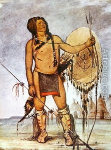 Typical Comanche warrior of the 1830's. Few would have firearms and instead relied on lance and bow.
