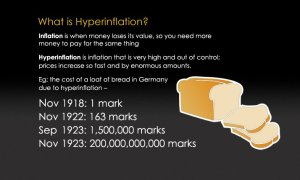 Other countries have experienced hyper-inflation worse than this but not many!