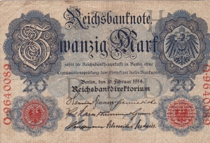 Front of  the note
