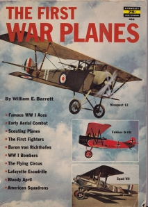 Cover of The First War Planes by William E. Barrett from 1960.