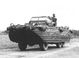 Caption from Wiki reads US Army DUKW in France