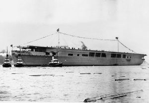 Little known fact but the Germans nearly had an aircraft carrier of their own to challenge the Royal Navy with. It was never completed. It was named the Graf Zeppelin.