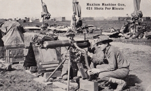 "Maxim or ""Maxium"" Machine Gun."