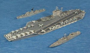 (Top) USS Roark (Middle) USS Nimitz (Bottom) USS O. H. Perry