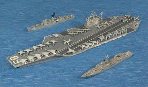 (Top) USS Roark (Middle) USS Nimitz (Bottom) USS O. H. Perry