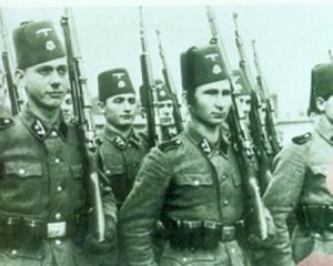 While Tito did unite diverse groups he did not unite them all. This is a unit of Balkan Moslems in German uniforms. They would fight against the partisans as would the Croats.
