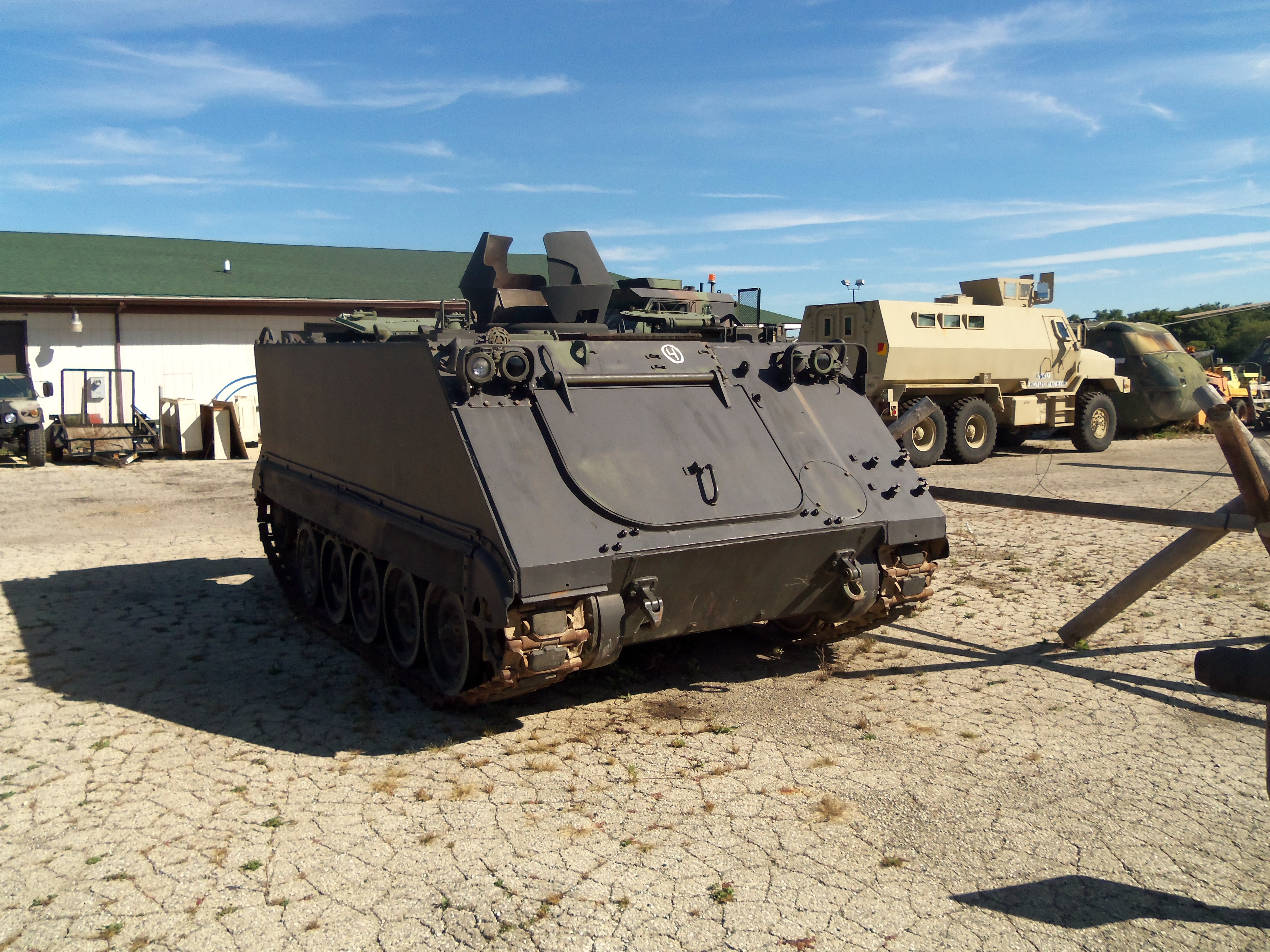 Personal Carriers at the museum. The M113 was the standard US APC