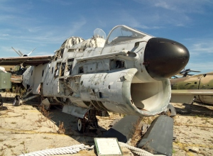Heavily cannibalized A7 Corsair