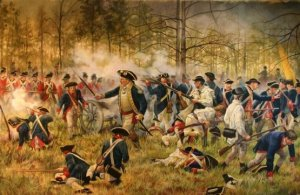Battle of Camden. The British were commanded by Cornwallis. At one point Cornwallis ordered his artillery to fire on his own forces who were engaged in hand-to-hand combat with their American counterparts. Ironically, Cornwallis was a Whig and favored the colonists in Parliament. Still, it did not stop him from doing what he could to conquer the south.