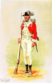 The British changed into new uniforms prior to marching out of Yorktown to surrender. The contrast between the well dressed French and British to the ragamuffin Americans could not have been greater.