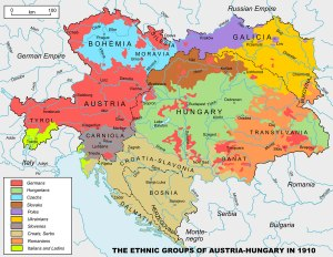 Ethnic groups Austro-Hungarian Empire 1910 http://www.authentichistory.com/1914-1920/1-overview/1-origins/index.html