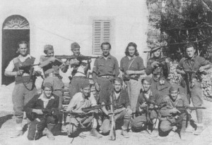 Yugoslav partisans. Captured German weapons are much in evidence.