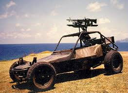 Teleoperated dune buggy MG carrier