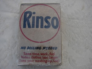 "Rinso is still in business. It's a UK company but does business in Australia, New Zealand, the US and other places. I never heard of it. Notice the ""No Boiling"""