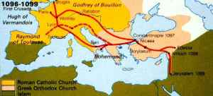 first_crusade_route_map
