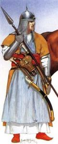 Mamluk slave soldier. They were still around in Napoleon's time and a number of them served in his personal Guard.