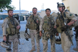Seal Team 10, Marcus Luttrell on the right.
