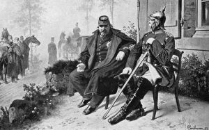 Napoleon III and  Otto von Bismarck of Prussia. Napoleon sought Empire in Mexico but found only defeat there and in the Franco-Prussian War of 1870. He was exiled to England after the Franco-Prussian War.