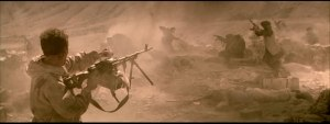 Scene toward the end of the movie as the Russian position is about to be over run.