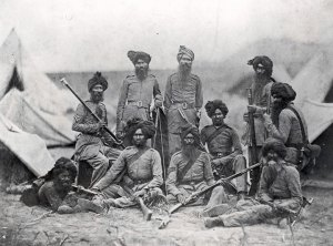 Sikh officers of the 15th Punjab Regiment shortly after the Indian Mutiny. Picture from the UK's Guardian.