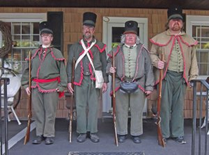 Another group of reenactors, this time American militia. http://currierhouse.com/blog/special-holiday-for-sarah/local_militia_war_of_1812/