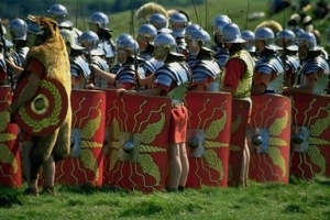 "Although ""century"" means 100 a Roman Century only had 80 men."