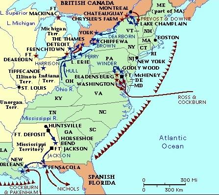 Battle Of The Chippewa July When Cousin Jonathan Finally - Us map 1814