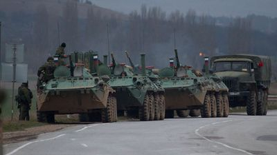 Russian Armored Personnel Carriers in the Crimea.
