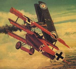 The famous Fokker Triplane flown by Werner Foss and Richthofen in the later part of WW1