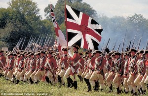 British Redcoat Regulars advancing in the movie the Patriot.